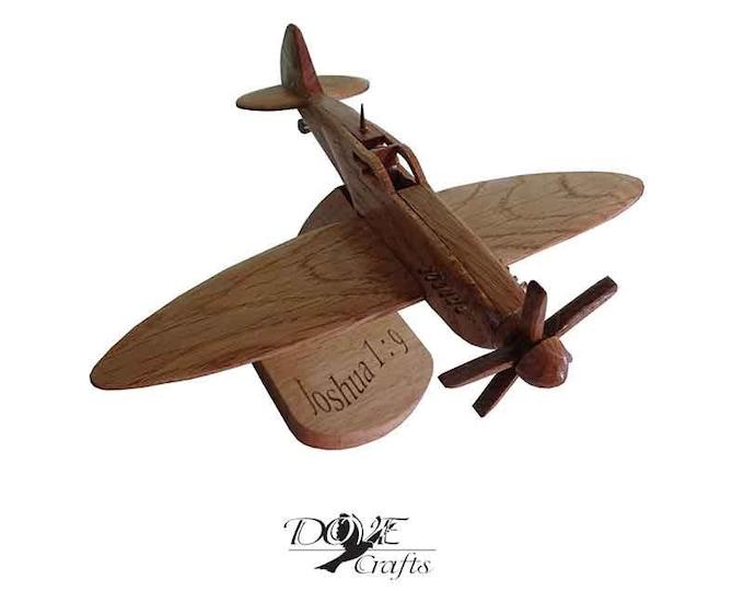 Spitfire Supermarine Spitfire PR MK XI made of Oak wood, wooden model