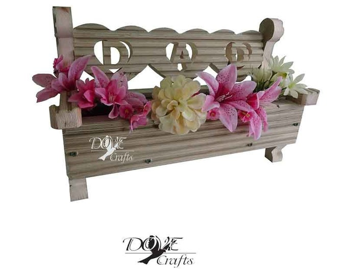 Love Heart Bench Planter MUM/DAD-pre-treated decking wood, Hand Crafted**No Christmas Guarantee**