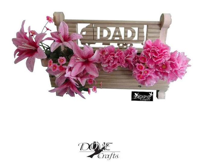 Bench Planter Personalised with your choice of Symbols