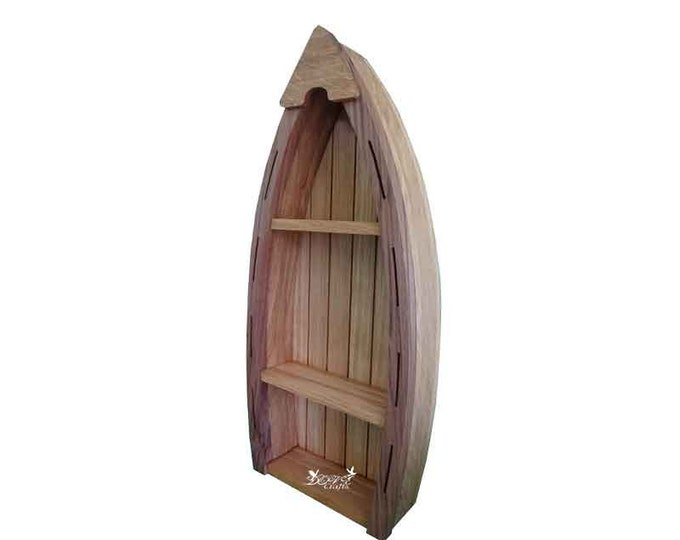 Boat Shelf Display Oak wood (Sale)