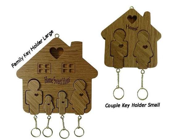 Home and family Key holder Oak wood