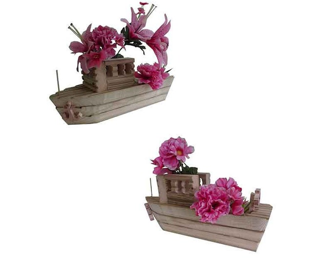 Fishing Boat Planter Small, Hand Crafted
