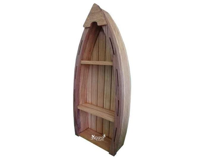 Boat Shelf Display Oak wood