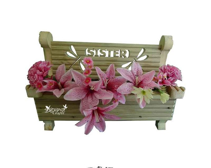 Bench Planter Personalised with your choice of Symbols (can't be delivered for Fathers Day)