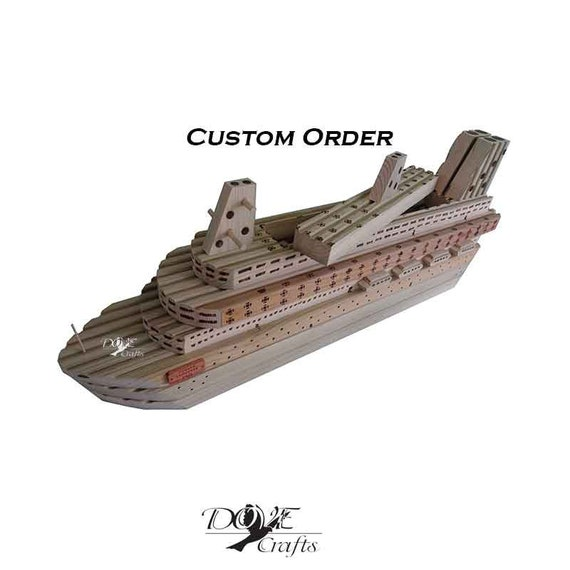 Planter Magnificent Model Cruise Ship Decking Wood Hand Crafted