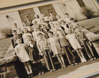 Wall d\u00e9cor - School uniform Cap Vintage family photo of boy 1930s Journals Children Fashion