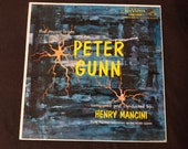 The Music from Peter Gunn by Henry Mancini - LP Vinyl 1959 RCA Victor LPM-1956 with sleeve