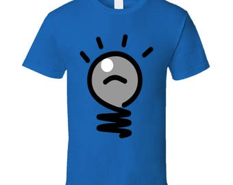 Idea Light Bulb T-Shirt Men's or Women's