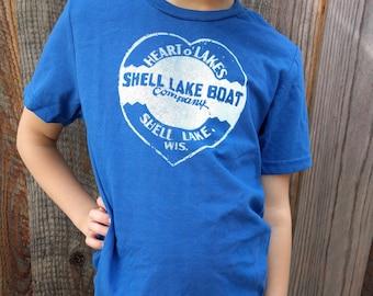Shell Lake Wisconsin Vintage Kids T-shirt