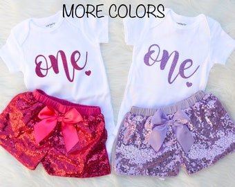 First Birthday Outfit Girl | First Birthday Girl | Sequins Shorts Outfit | 1st Birthday Girl Outfit