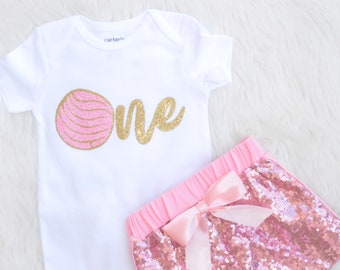 First Birthday Outfit | Pan Dulce Outfit | Concha Birthday Outfit
