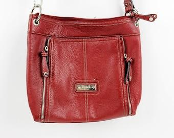 77720ddadb Wonderful Vintage 90s Tignanello Dark Red Full Luxurious Leather Purse with  43