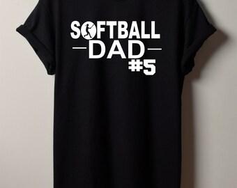Softball Dad Shirt - Custom Softball Dad Shirt - Men s Softball Shirt -  Sports Tshirt - Custom Shirt for Dad - Softball Grandpa Tshirt 8f4e3e41ebcf