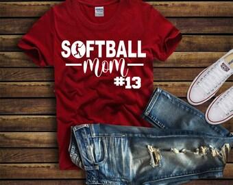 4e9ef9a5ecde Cute Softball MOM Shirt, Custom Softball Shirt - Custom Softball Gift -  Christmas Gift Softball Mom - Personalized Softball Mom Shirt - tee