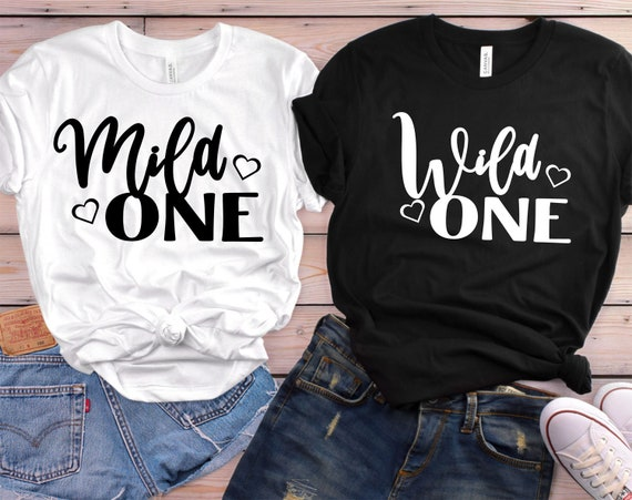 Wild One Ladies Casual T-shirt Gift Her Black