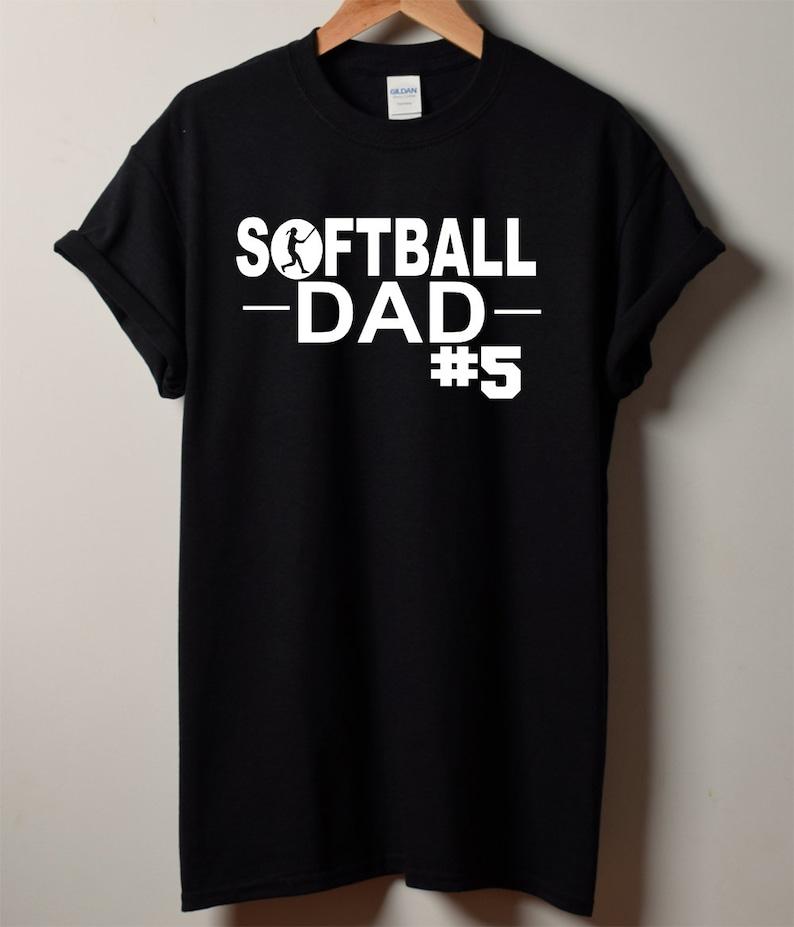 4f64d9afd Softball Dad Shirt Custom Softball Dad Shirt Men's   Etsy