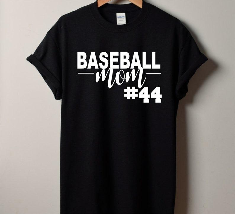 2434bbe7 Baseball MOM Shirt Custom Baseball Shirt Custom Baseball | Etsy