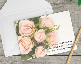 Anniversary card for husband, Anniversary card for wife, card for him, card for her, sweetheart card, I love you, 1st anniversary, TWO-GE256