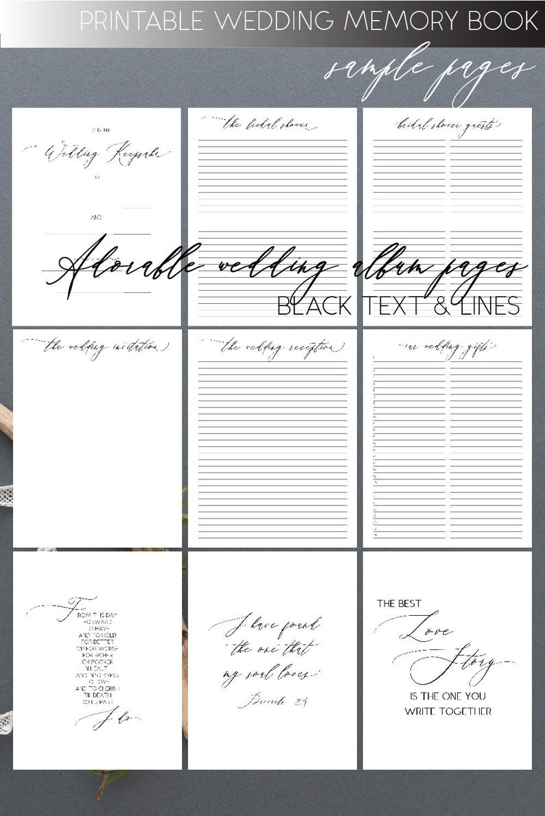It's just an image of Printable Guest Book Pages with regard to diy
