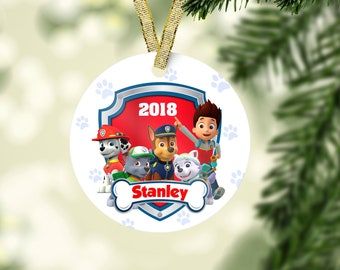 paw patrol christmas ornament marshall ornament chase ornament kid christmas ornament baby first christmas personalized christmas ornament
