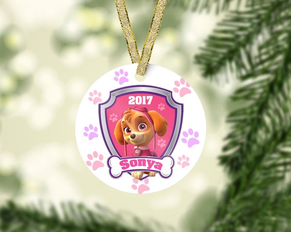 Paw Patrol Christmas Ornaments Personalized.Paw Patrol Christmas Ornament Skye Ornament Marshall Ornament Kid Christmas Ornament Baby First Christmas Personalized Christmas Ornament