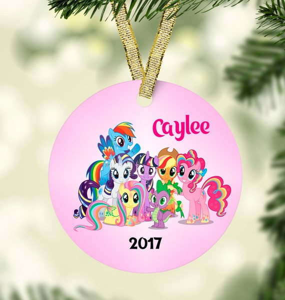 My Little Pony Christmas.My Little Pony Christmas Ornament Pinkie Christmas Ornament Kids Christmas Ornament Christmas Ornament Personalized Ornament Unique Ornament
