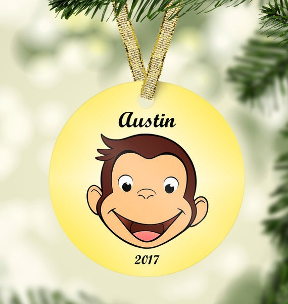 Curious George Christmas Ornament-Kids christmas ornament-Baby First  Christmas-Porcelain Christmas Ornament-Personalized Christmas for kids - Curious George Christmas Ornament-Kids Christmas Etsy