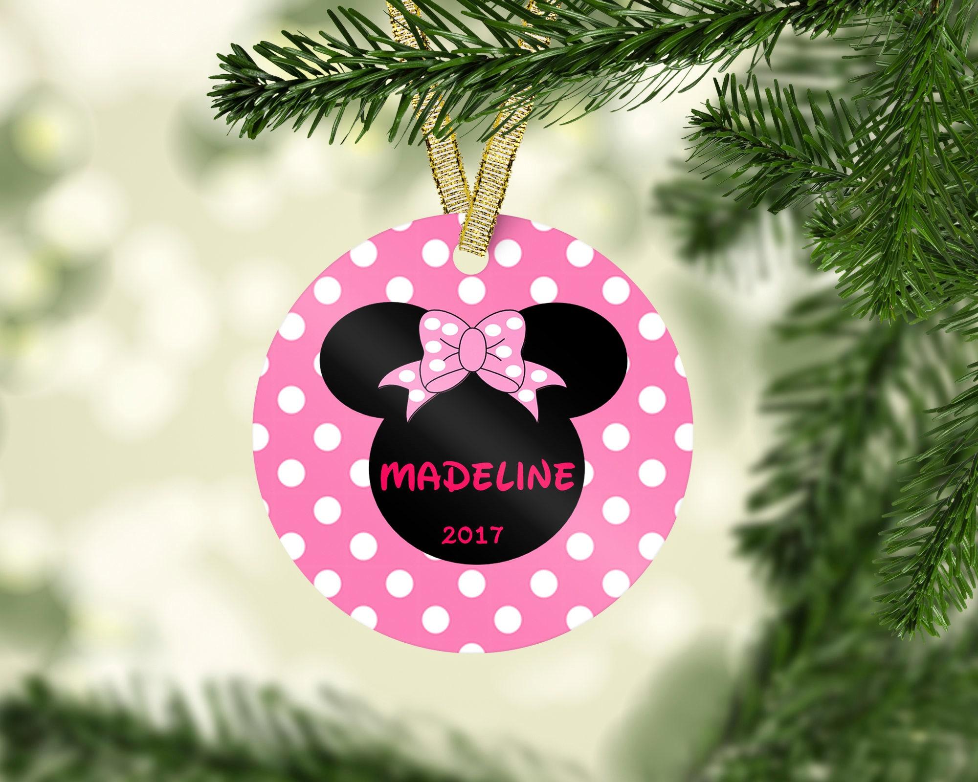 Minnie Mouse Christmas Ornament Disney Ornament Princess Ornament Kid Christmas Ornament Baby First Christmas Personalized Christmasornament