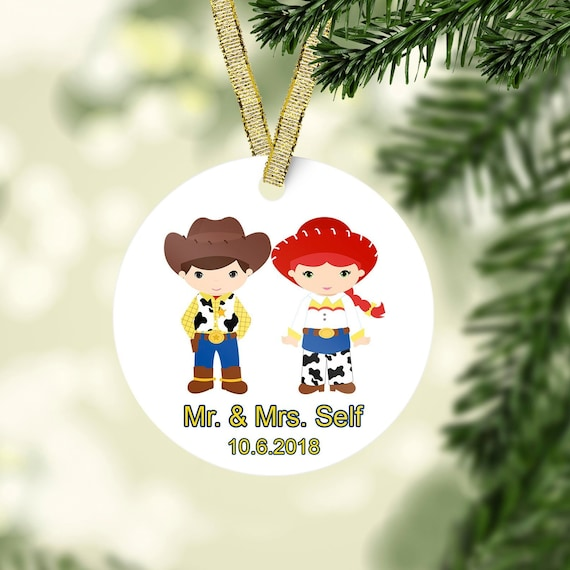 Toy Story Christmas Ornaments.Our First Christmas Ornament Toy Story Ornament Mr Mrs Ornaments Couple Ornament Personalized Ornament Married Ornament Christmas Gift