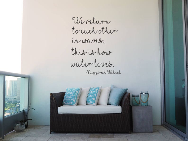 Nayyirah Waheed Quotes We Return To Each Other In Waves This Etsy