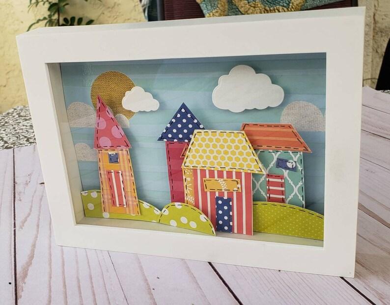 3D paper art Shadow Frame, friend gift, Shadow Box Frame, sister Gift, Gift  idea, home decor, Nursery Decor