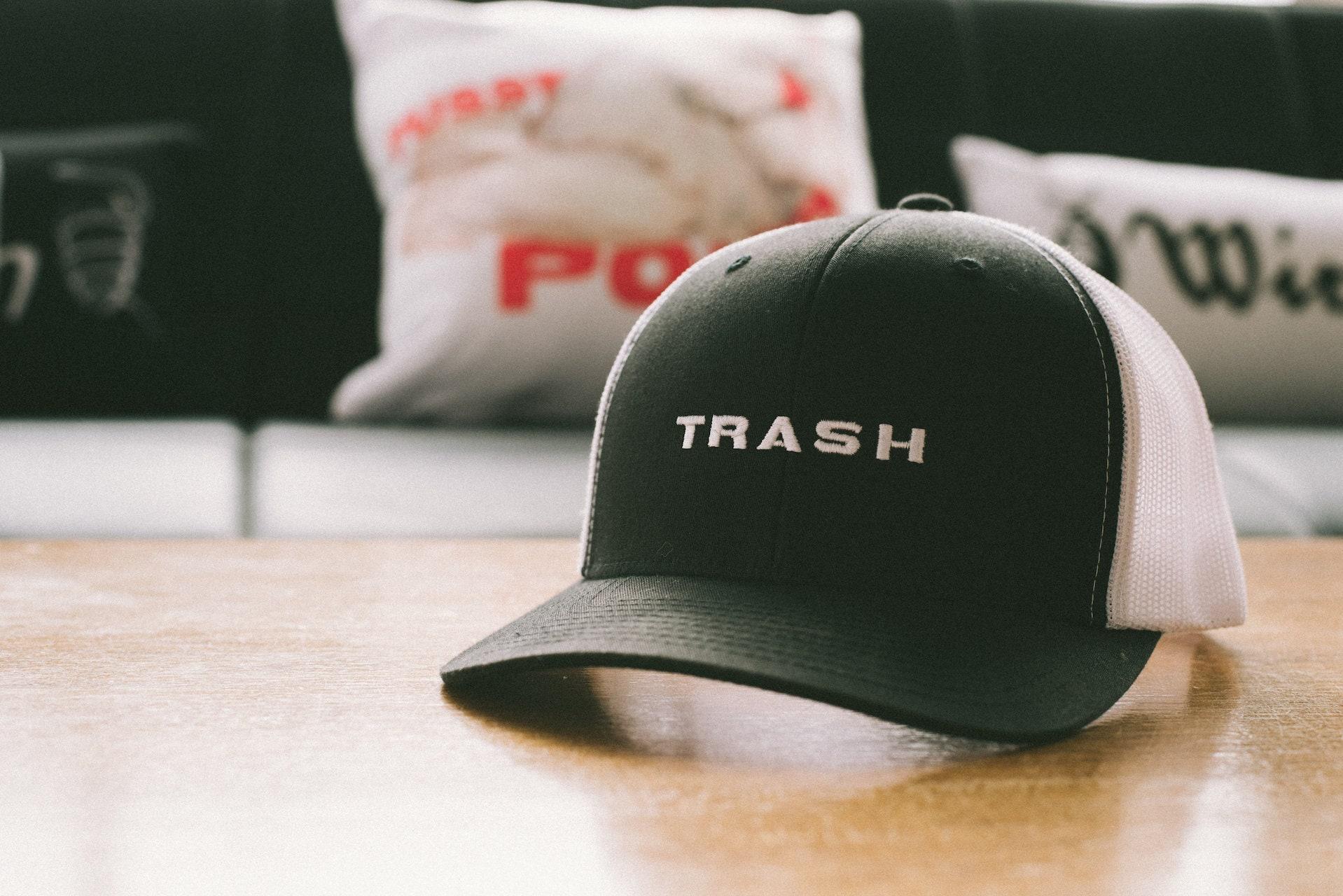 Trash Embroidery Retro Trucker Hat ae9af2290494