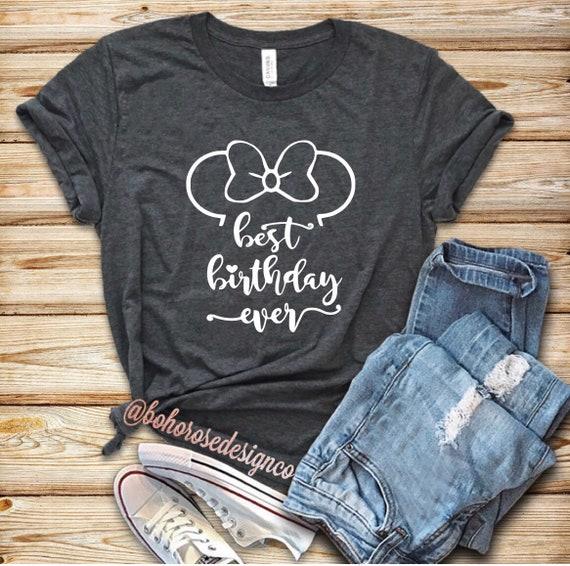 Disney Birthday Shirt Womens