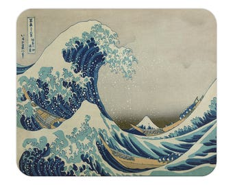 Great Wave Mouse Pad, Hokusai Art, The Great Wave off Kanagawa, Artistic Gift, Birthday Present, Home Office, Work from Home