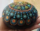 Big Mandala Rock for Meditation Home Decoration Unique Gift Mindfulness Paperweight