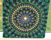 Dot Mandala 6x6 Canvas Meditation Home Decor Mindfulness Focus Activities