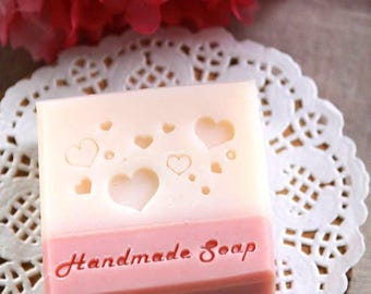 Ashuai soap-Acrylic soap stamp A036 love love love(without words)(free shipping)