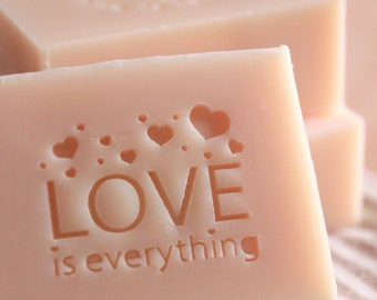 Ashuai soap-Acrylic soap stamp A100 love is everything(free shipping)