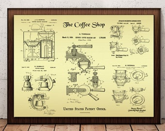 Coffee blueprint etsy coffee poster barista coffee shop patent design us patent blueprint poster caffeine print coffee printable coffee lovers gift malvernweather Gallery