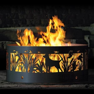 Labrador Ducks Fire Pit Ring Heavy Duty Great Gift For Etsy
