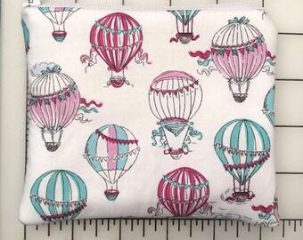 Zippered pouch - hot air balloons