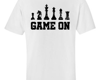 55e24c294e Funny Chess Design - Game On - Unisex T-Shirt