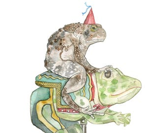 Toad on a Carousel Frog