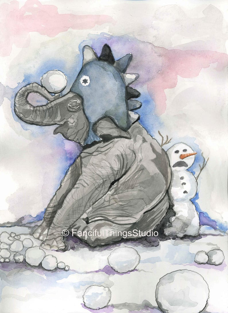 Snow Day for Elephant