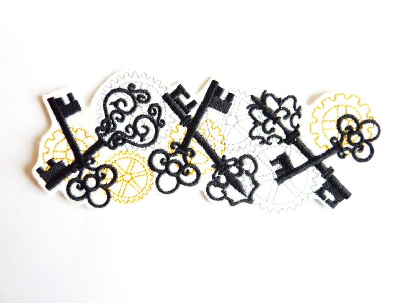 Keys And Wheels >> Steampunk Steampunk Thermostick Embroidery Keys And Wheels