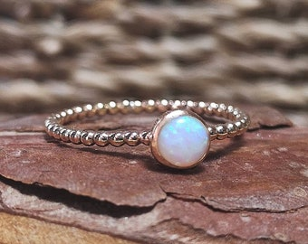 Stacking Ring Hammered 9ct Gold Filled Dainty Band Ring by Rock and Feather Jewellery