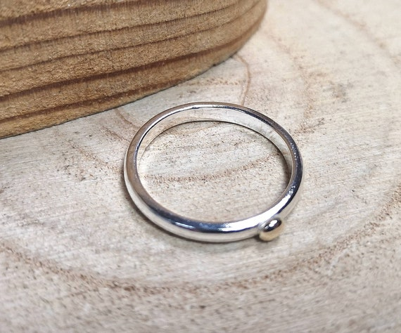 Sterling Silver Mens Nugget Polished Ring