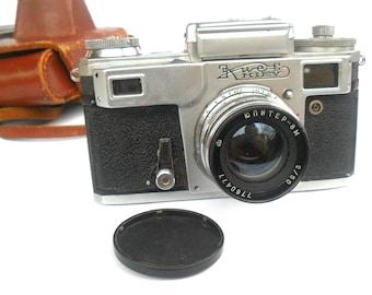 Vintage Photo Camera rare camera Camera Soviet Kiev-4A (Tipe3) Vintage Rangefinder Camera Lens Jupiter-8M camera 35 mm photo camera