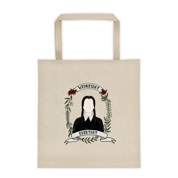 f1bd5ed38 Wednesday Addams Tote Bag Wednesday Everyday Canvas Bag   Etsy