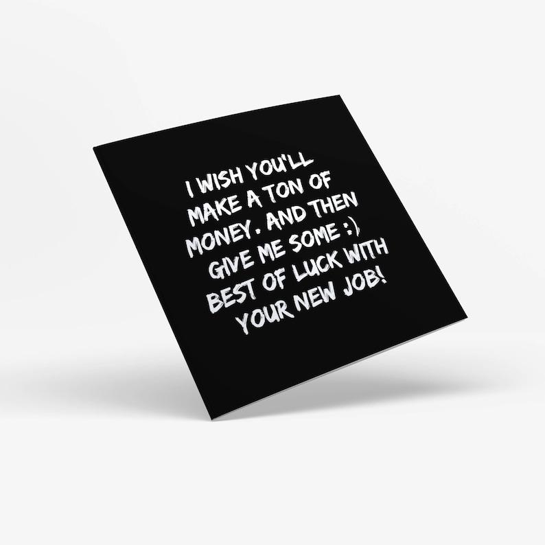 New Job Printable Greeting Card Birthday